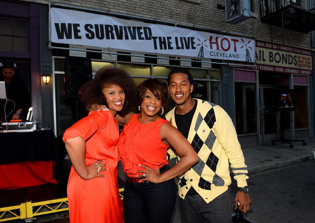 "Kellee Stewart, Niecy Nash and Wesley Jonathan attend the after party for TV Land's ""Hot in Cleveland"" Live Show on June 19, 2013 in Studio City, California."