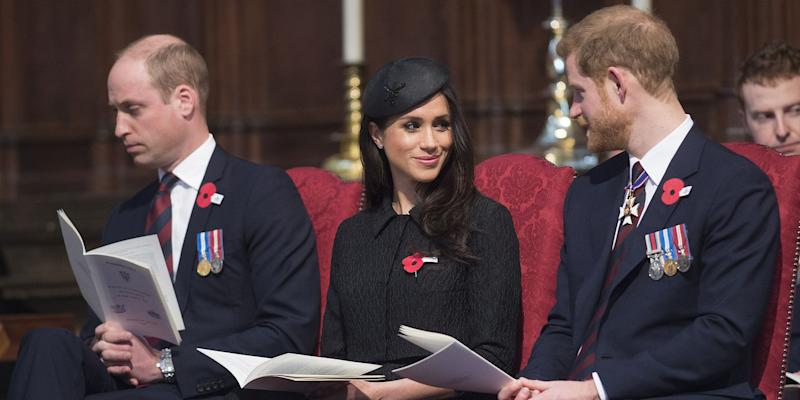 Prince William appeared to struggle to stay awake during the service yesterday