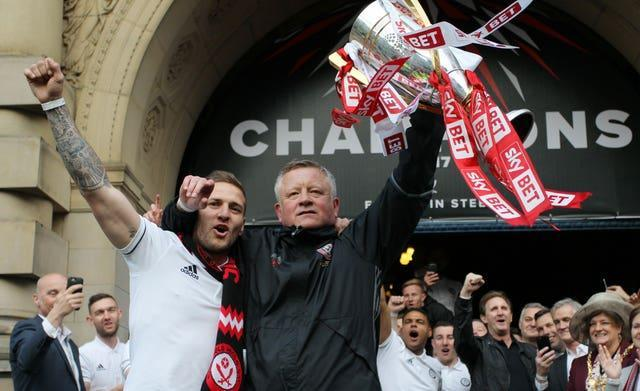 Former Blades boss Chris Wilder beat Bielsa in the race for automatic promotion in 2019