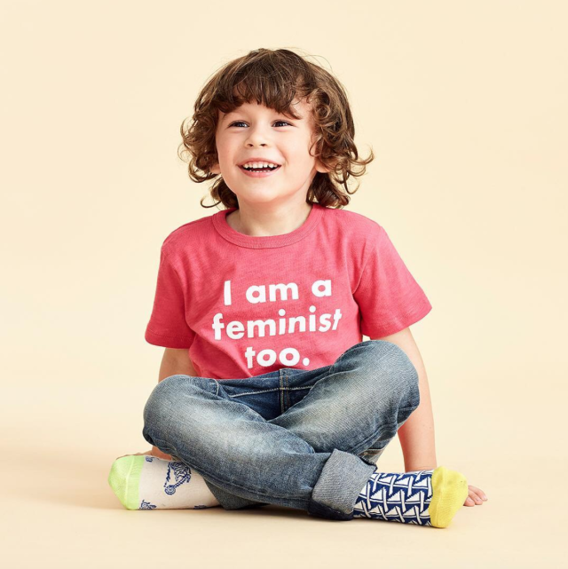 J.Crew is selling a feminist-themed T-shirt that is causing controversy. (Photo: J.Crew)