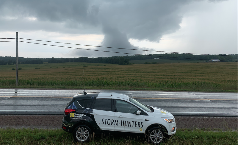 The Weather Network vehicle. Courtesy: Mark Robinson