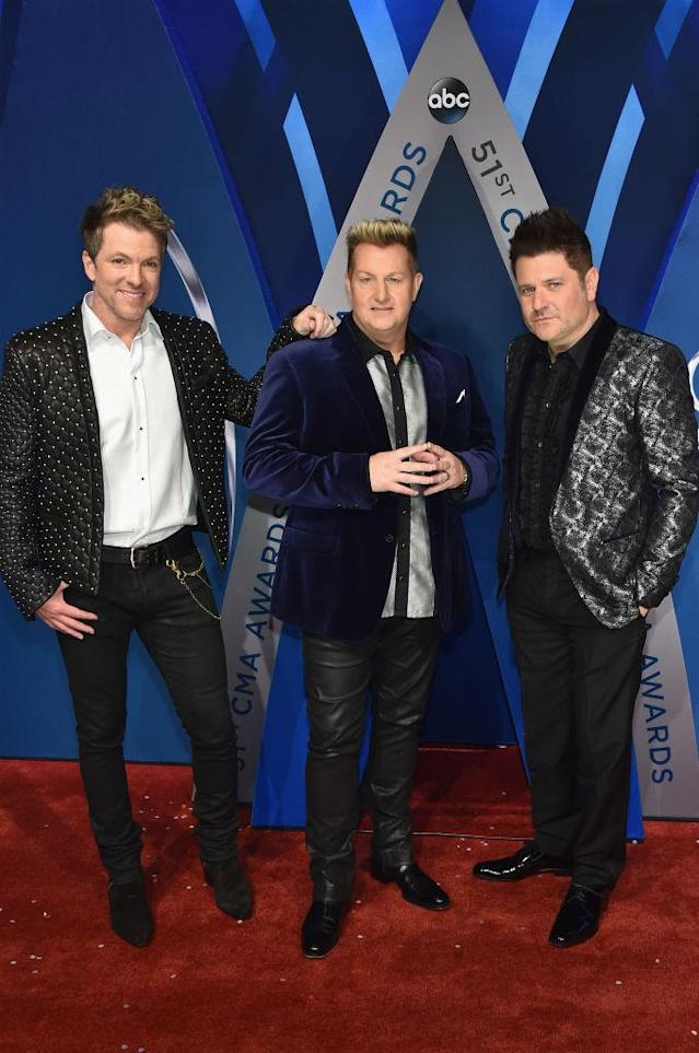 <p>None of these men shy away from patterns and velvet. (Photo: Getty Images) </p>