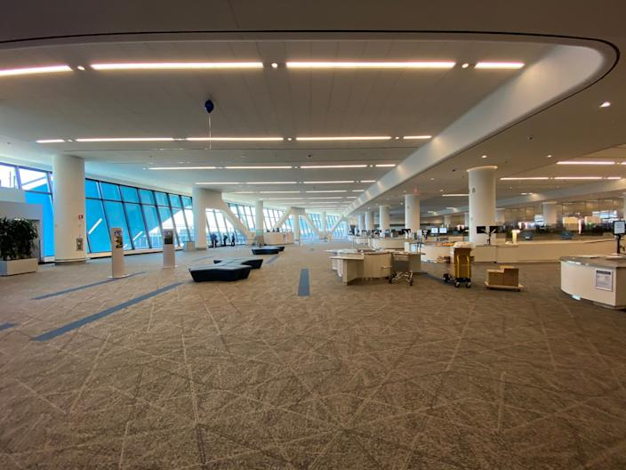 The new Arrivals and Departures Hall at LaGuardia Airport.