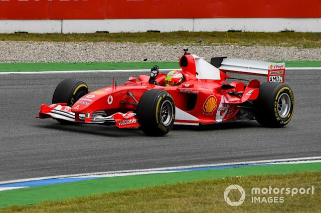"Mick Schumacher, Ferrari F2004 <span class=""copyright"">Mark Sutton / Motorsport Images</span>"