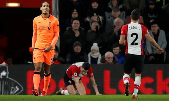Virgil van Dijk grins in the face of fans' fury on happy return to Southampton