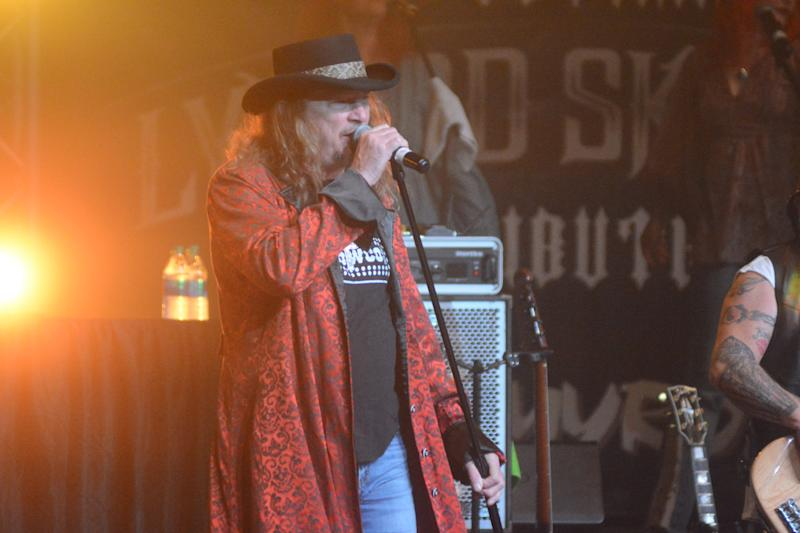 Lead singer of cover band Nuthin' Fancy belts out a popular Lynyrd Skynyrd tune at the Southwest Mississippi Community College in Summit on Oct. 19, 2019.