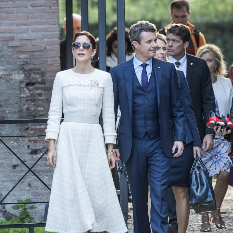 Mary, Crown Princess of Denmark, Breaks Convention With a Pair of Sporty Sneakers
