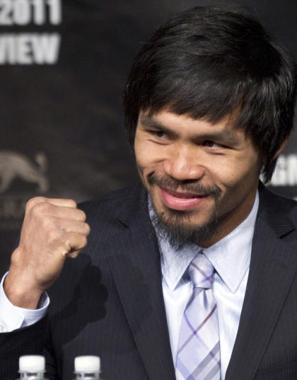 Manny Pacquiao is perhaps Mayweather's greatest challenge. (AP)