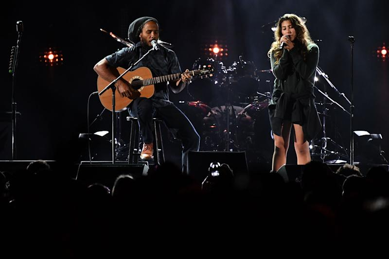 """Ziggy Marley and Chris Cornell's daughter Toni perform his father's reggae classic """"Redemption Song."""""""