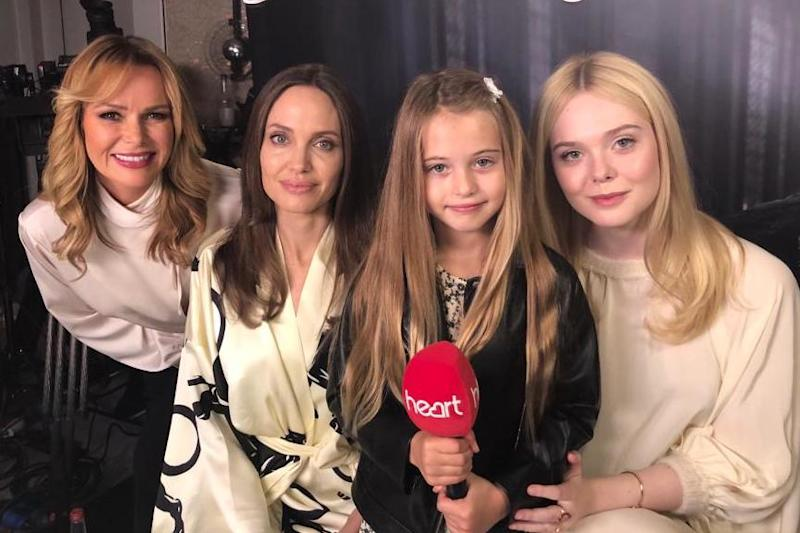 Amanda Holden with Angelina Jolie, daughter Hollie and Elle Fanning: Heart Radio