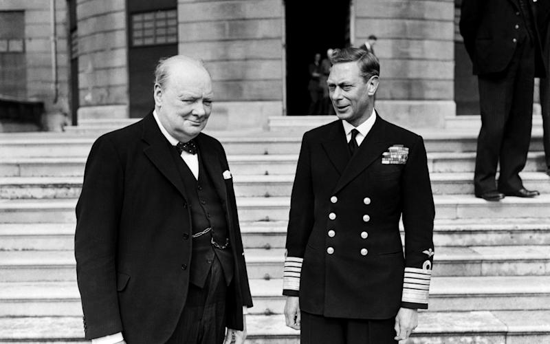 Winston Churchill VE Day - Nixon & Greaves/Mirrorpix/Getty Images