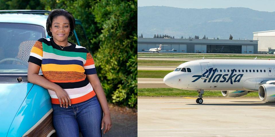 """<p>She's a crowdpleaser on-screen and on the ground! Before Tiffany Haddish turned into a breakthrough actress and comedian, she was on the ground staff team for Alaska Airlines. She told <a href=""""https://www.stylist.co.uk/people/tiffany-haddish-interview-failed-jobs-stephen-colbert-late-night/285051"""" rel=""""nofollow noopener"""" target=""""_blank"""" data-ylk=""""slk:Stephen Colbert"""" class=""""link rapid-noclick-resp"""">Stephen Colbert</a>, """"I worked at the gates and my goal was always to bring happiness and joy to people—still to this day.""""</p>"""