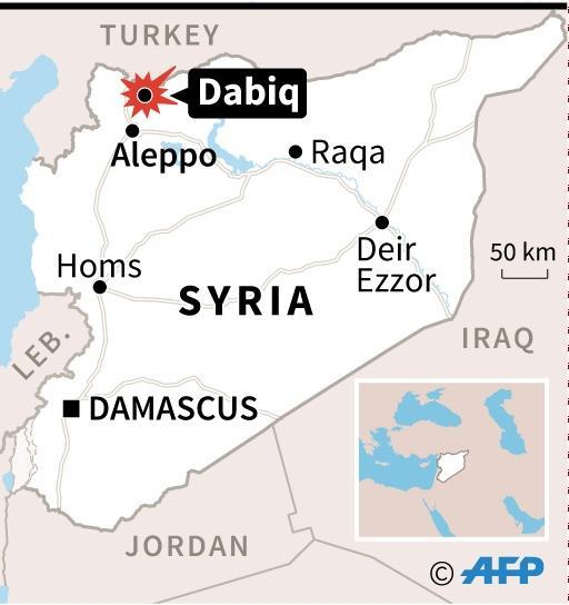 Dabiq holds symbolic importance for IS because of aSunni prophecy that states it will be the site of an end-of-times battle between Christian forces and Muslims (AFP Photo/Vincent LEFAI)