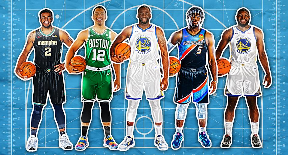 Xavier Tillman, Grant Williams, Draymond Green, Lu Dort, Eric Paschall