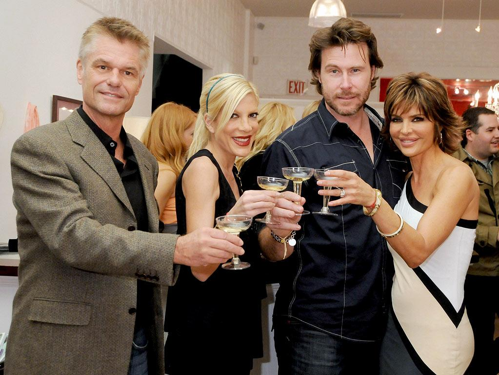 "Harry Hamlin, Tori Spelling, Dean McDermott and Lisa Rinna celebrate the 7th Anniversary of Harry Hamlin and Lisa Rinna's boutique, ""Belle Grey"", as seen on ""Harry Loves Lisa"""