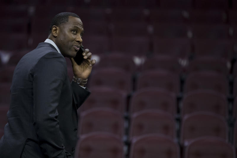 Philadelphia 76ers general manager Elton Brand has made 10 trades in just over a year. (Mitchell Leff/Getty Images)