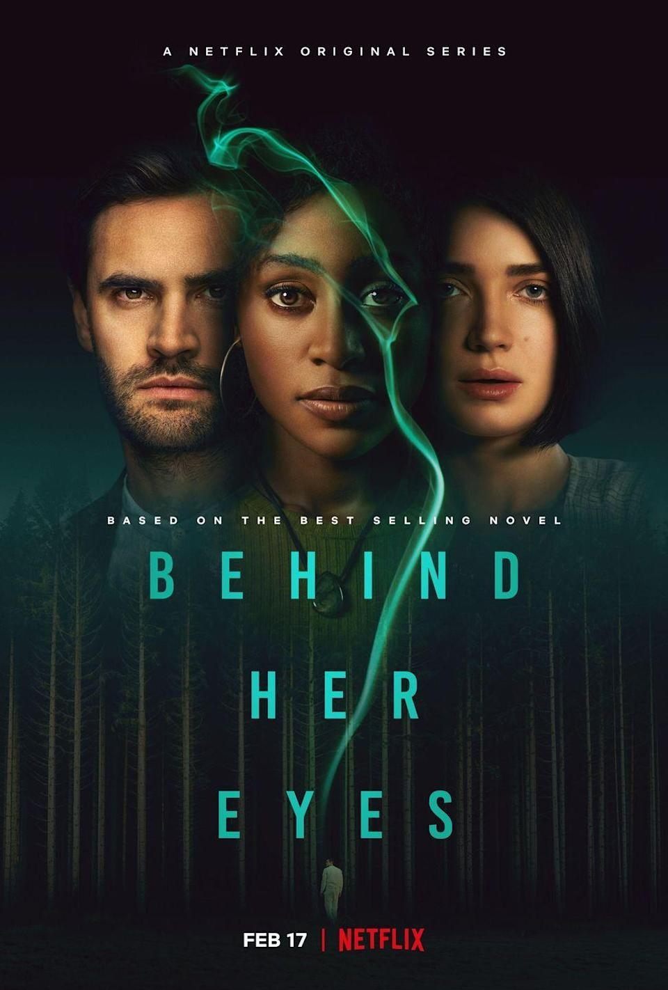 Behind Her Eyes, details, clues, easter eggs, ending, poster, promotion, Rob, Adele, Louise, David