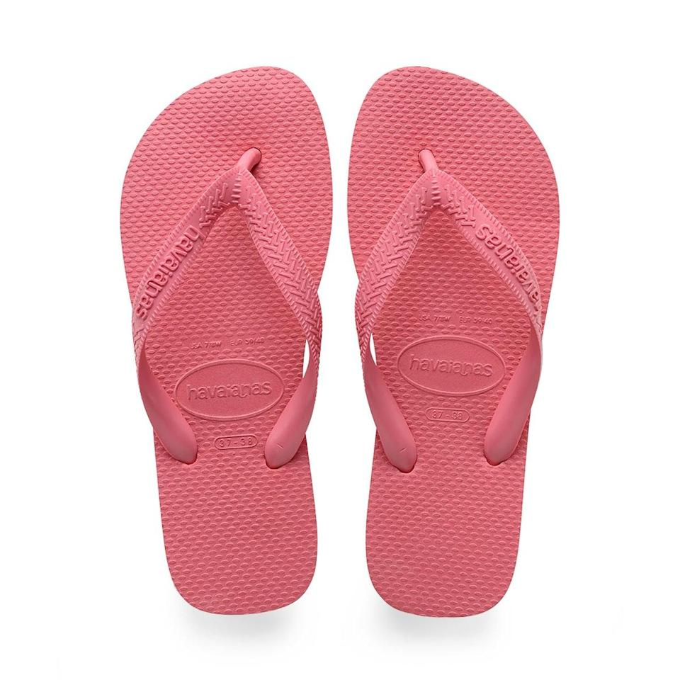 """<h3><a href=""""https://us.havaianas.com/"""" rel=""""nofollow noopener"""" target=""""_blank"""" data-ylk=""""slk:Havaianas"""" class=""""link rapid-noclick-resp"""">Havaianas</a></h3> <br><strong>Dates:</strong> July 1 - 7<br><strong>Discount:</strong> Get 30% off your purchase of 2 or more styles (excludes sale items)<br><strong>Promo Code:</strong> JULY4TH<br><br><strong>Havaianas</strong> Top Flip Flops, $, available at <a href=""""https://go.skimresources.com/?id=30283X879131&url=https%3A%2F%2Fus.havaianas.com%2Fwomens-sandals%2Ftop-sandal-porcelain-pink.html"""" rel=""""nofollow noopener"""" target=""""_blank"""" data-ylk=""""slk:Havaianas"""" class=""""link rapid-noclick-resp"""">Havaianas</a><br><br><br>"""