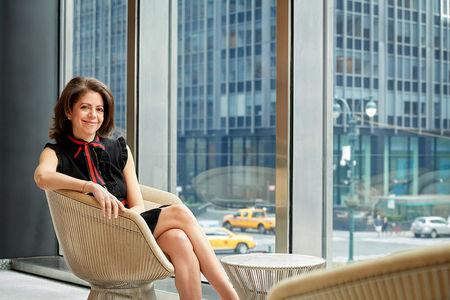 Claudia Jury, global co-head of currencies and emerging markets at JPMorgan Chase & Co, poses in New York, New York, in this February 25, 2017 photo, provided May 23, 2018.    Courtesy of Carnegie Mellon University/Handout via REUTERS