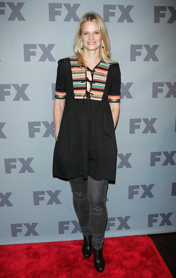 "Joelle Carter (""<a href=""http://tv.yahoo.com/justified/show/45070"">Justified</a>"") attends FX's 2012 Upfronts at Lucky Strike on March 29, 2012 in New York City."