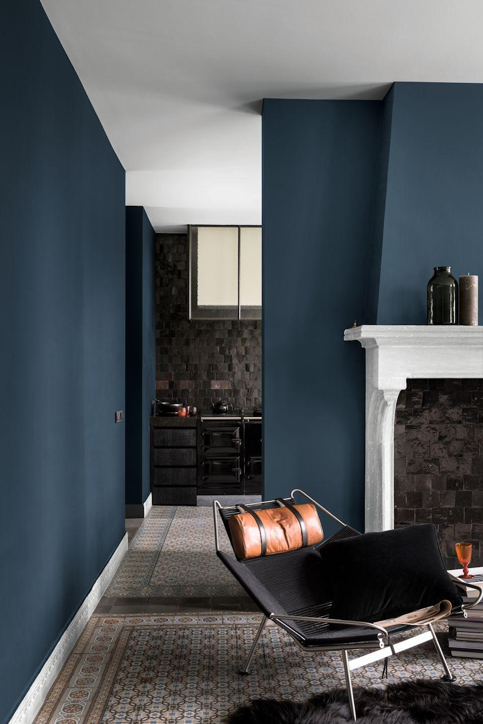 """<p>'Before the TV became commonplace in many modern living rooms the focal point of the room was always the fireplace. White fireplaces have become more popular recently, as seen in 12 per cent of top posts, as they offer another point of contrast to other colours that may be in the room,' Dulux says. </p><p>A well placed fireplace alone can be enough to make any wall a feature wall, but paired with bold, bright colours and <a href=""""https://www.housebeautiful.com/uk/decorate/looks/g19619913/stylish-ways-to-decorate-with-pattern/"""" rel=""""nofollow noopener"""" target=""""_blank"""" data-ylk=""""slk:patterns"""" class=""""link rapid-noclick-resp"""">patterns</a> you can really be sure to bring that focal point right back to its former glory.<strong><br><br>Follow House Beautiful on <a href=""""https://www.instagram.com/housebeautifuluk/"""" rel=""""nofollow noopener"""" target=""""_blank"""" data-ylk=""""slk:Instagram"""" class=""""link rapid-noclick-resp"""">Instagram</a>.</strong></p>"""