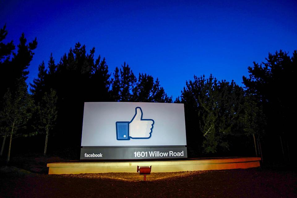 MENLO PARK, CA - MAY 18: A 'like' sign stands at the entrance of Facebook headquarters May 18, 2012 in Menlo Park, California. The eight-year-old social network company listed their initial public offering on NASDAQ Friday morning at $38 a share and a valuation of $104 billion, making its IPO the third largest in U.S. history after General Motors and Visa. (Photo by Stephen Lam/Getty Images)