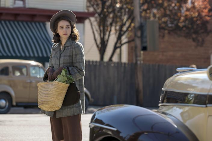 """Zoe Kazan is a Jewish woman in a scary 1940s America in """"The Plot Against America."""""""