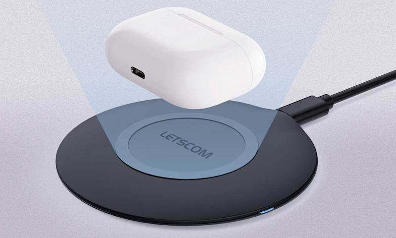 Free yourself from cords with the $9 Letscom Ultra Slim Wireless Charger. (Photo: Amazon)