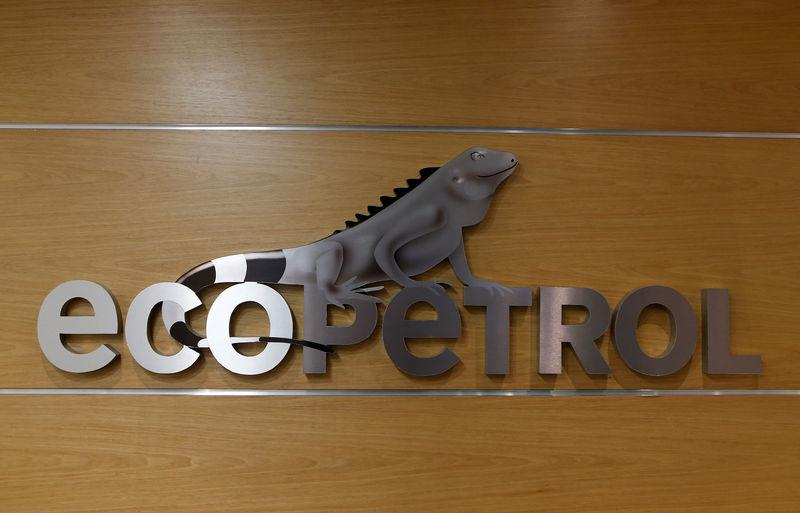 FILE PHOTO: The logo of Ecopetrol is pictured at its headquarters in Bogota