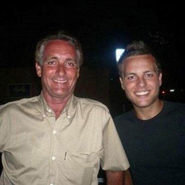 Margot's father (R) has spoken out - pictured here with son Lachlan Robbie. Source: Facebook/Lockie Robbie