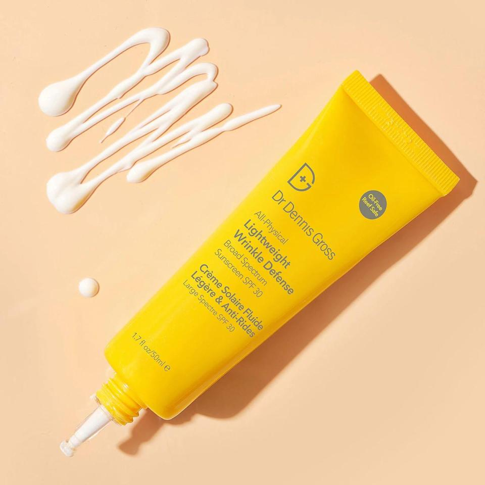 <p>Sunscreen is a must have all year round. If you're looking for a new tube, try this <span>Dr. Dennis Gross Skincare All-Physical Lightweight Wrinkle Defense Broad Spectrum Suncreen SPF 30</span> ($42).</p>