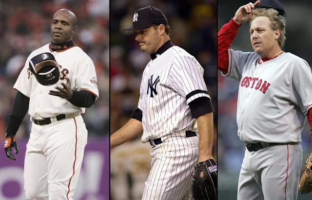 Barry Bonds, Roger Clemens and Curt Schilling still aren't in the Hall of Fame, but their 2019 vote results are encouraging. (Getty Images)