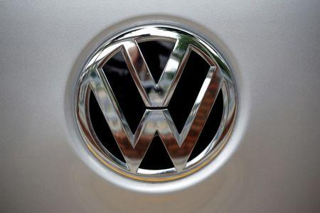 FILE PHOTO: A Volkswagen logo is seen at a dealership in Seoul