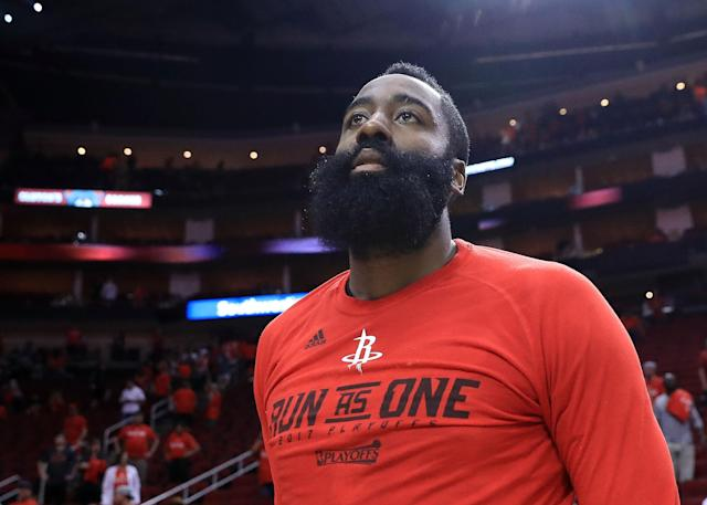 James Harden will once again be among the first players off the board in fantasy drafts. (Photo by Ronald Martinez/Getty Images)