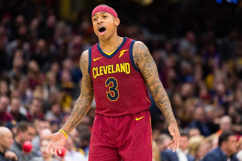 751753db2b71 Isaiah Thomas of the Cleveland Cavaliers yells to a teammate during the  second half against the