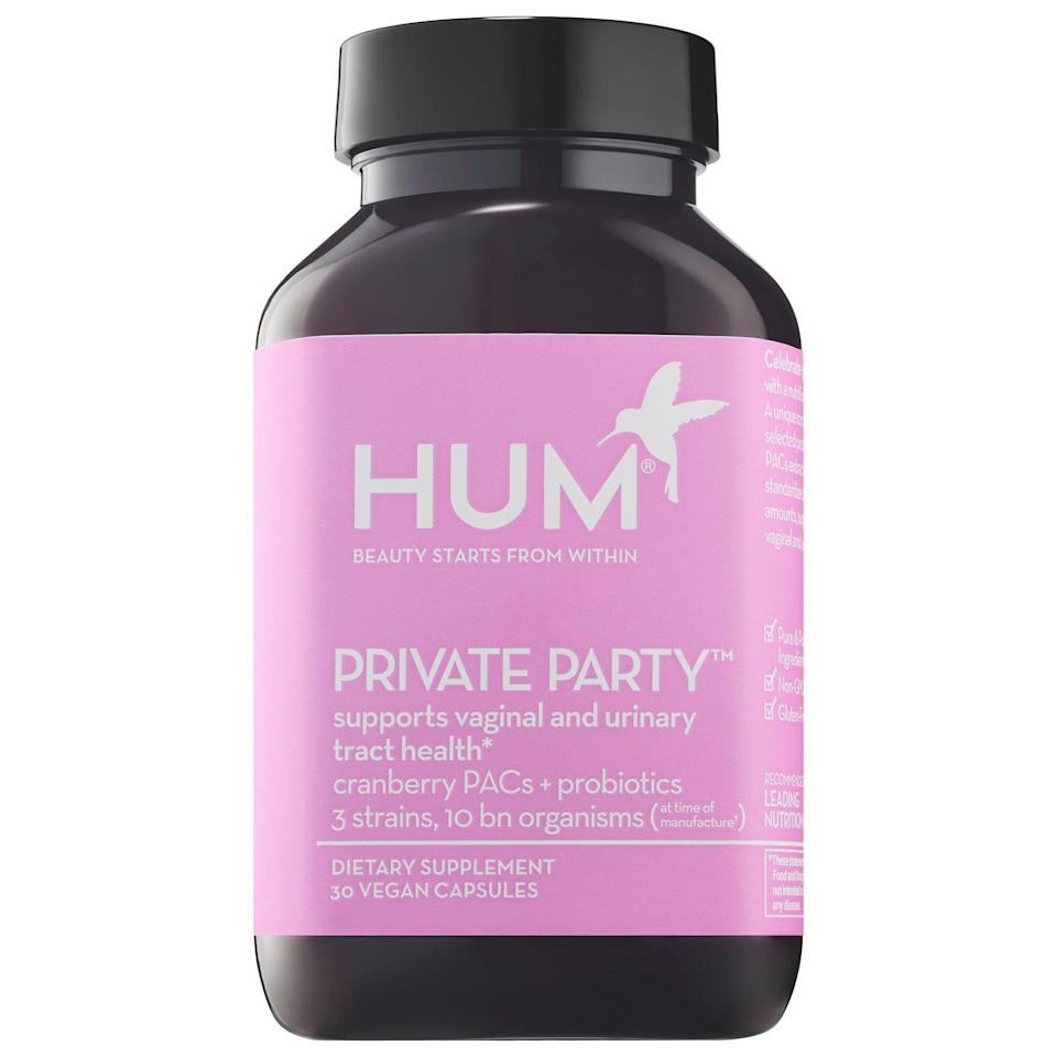 "<p><strong>HUM Nutrition</strong></p><p>sephora.com</p><p><strong>$25.00</strong></p><p><a href=""https://go.redirectingat.com?id=74968X1596630&url=https%3A%2F%2Fwww.sephora.com%2Fproduct%2Fhum-nutrition-private-party-supports-vaginal-urinary-tract-health-P457510&sref=https%3A%2F%2Fwww.townandcountrymag.com%2Fstyle%2Fbeauty-products%2Fg33380251%2Fbest-probiotic-for-women%2F"" rel=""nofollow noopener"" target=""_blank"" data-ylk=""slk:Shop Now"" class=""link rapid-noclick-resp"">Shop Now</a></p><p>For women who regularly suffer from UTI's, this formulation does double duty. Not only does it have cranberry PACs but it has 3 strains of probiotics that help reinforce a vibrant microbiome and low pH, as well. </p>"