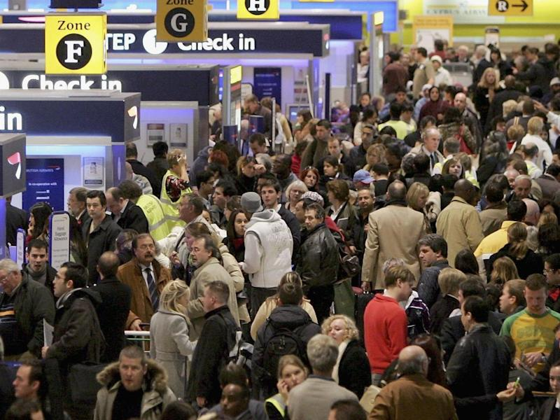 Tens of thousands of passengers at Heathrow airport have had their flights cancelled: Getty
