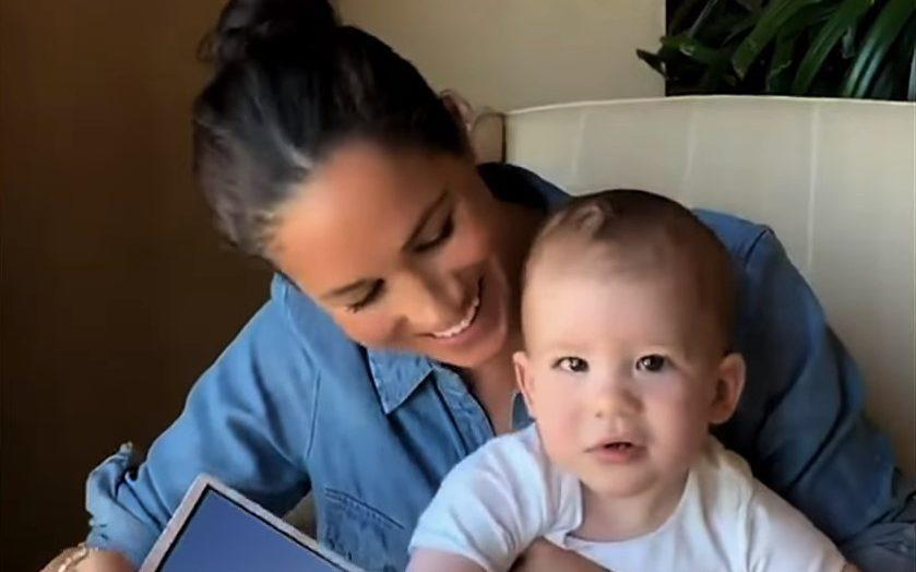 The Duchess of Sussex with her son Archie in the trailer for The Me You Can't See - Apple TV