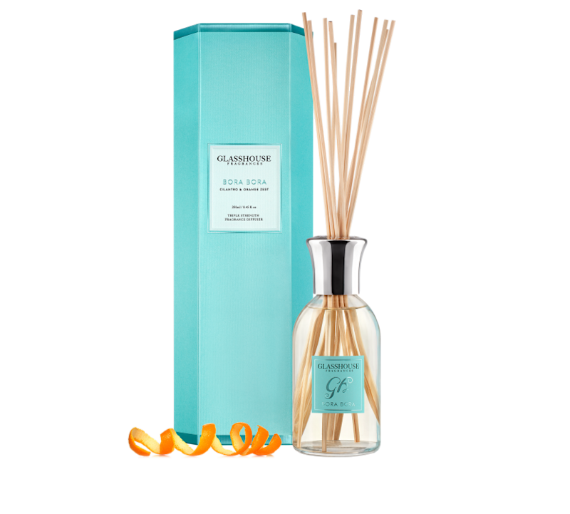 Glasshouse Fragrances' award-winning Bora Bora Cilantro & Orange Zest Fragrance Diffuser.