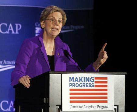 U.S. Senator Elizabeth Warren (D-MA) speaks at the Center for American Progress' 2014 Making Progress Policy Conference in Washington November 19, 2014. REUTERS/Gary Cameron