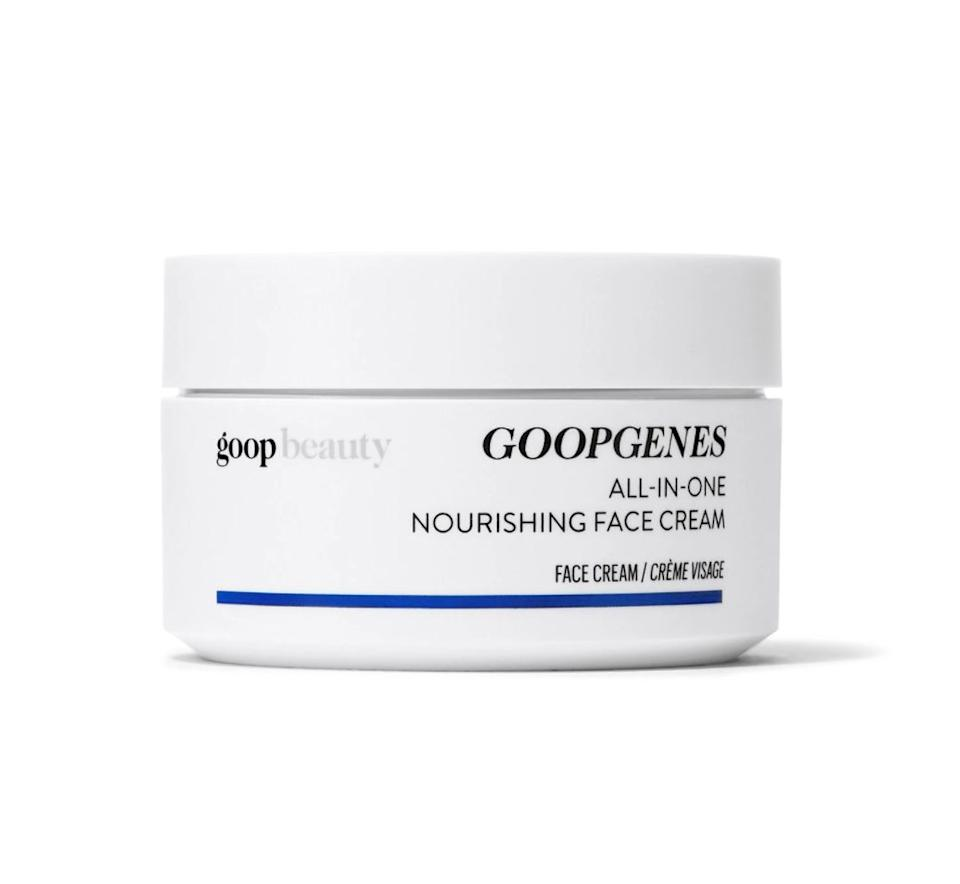 "This face cream from Goop is meant to be anti-aging and for all skin types, from sensitive to blemish-prone.  It has a 4.8-star rating over 10 reviews. <a href=""https://fave.co/3dMw5ad"" target=""_blank"" rel=""noopener noreferrer"">Originally $95, get it now for 20% off at Credo Beauty</a>."
