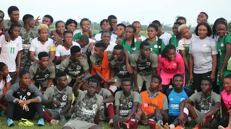 Super Falcons bow to Dominion Hotspur in friendly