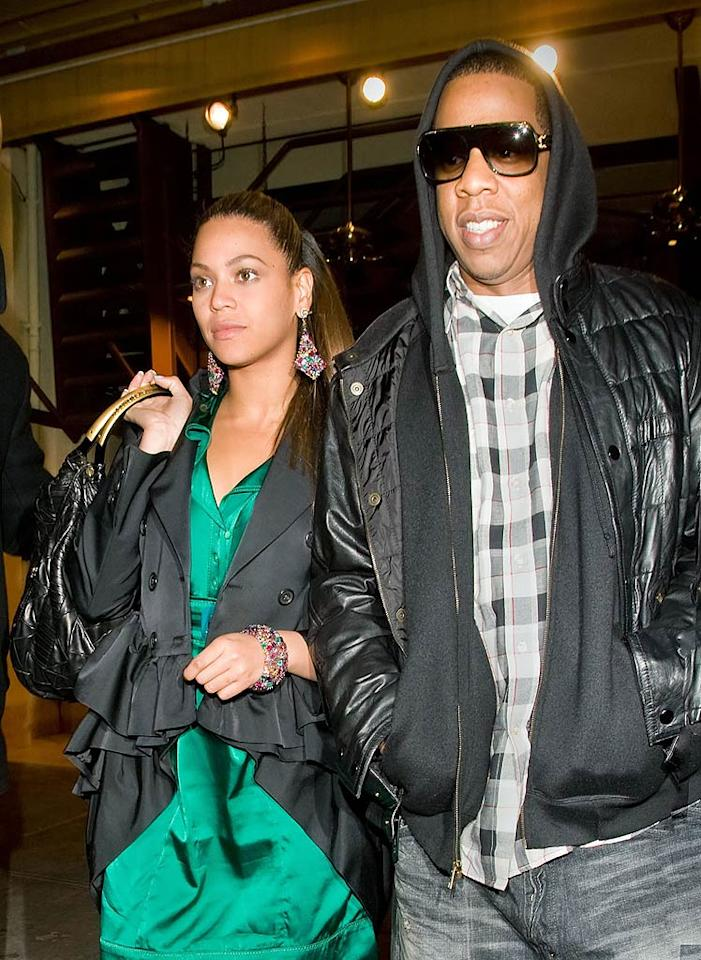 "Beyonce Knowles and Jay-Z wed in a secret rooftop ceremony on April 4, 2008 in New York City. The music superstars waited for weeks to confirm their marriage to the press. Jackson Lee/Turgeon/Rocke/<a href=""http://www.splashnewsonline.com/"" target=""new"">Splash News</a> - October 22, 2008"
