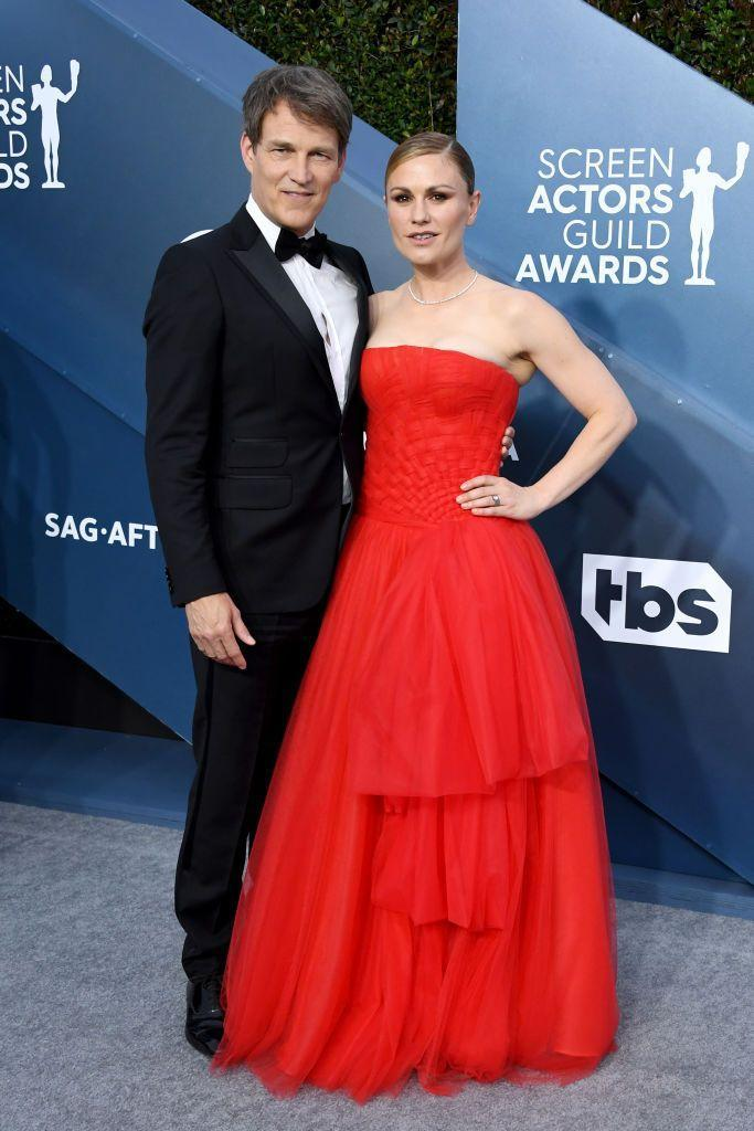 "<p>Anna Paquin and Stephen Moyer <a href=""http://people.com/tv/stephen-moyer-talks-falling-in-love-with-anna-paquin-on-true-blood/"" rel=""nofollow noopener"" target=""_blank"" data-ylk=""slk:met on the set"" class=""link rapid-noclick-resp"">met on the set</a> of <em>True Blood</em> back in 2008. The actors wed in August of 2010, and now have two children together.</p>"
