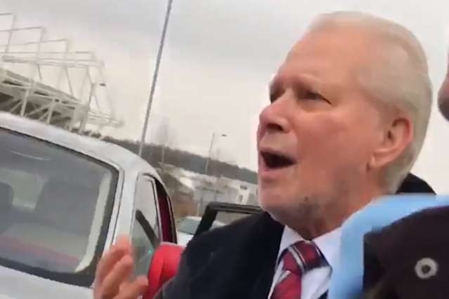 Angry West Ham fans stop David Gold's car and tell co-owner to 'leave the club' following Swansea defeat