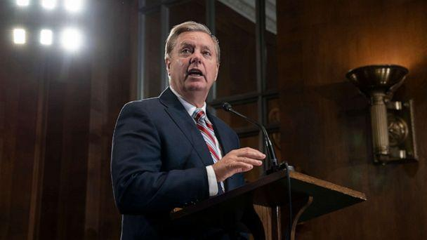 PHOTO: Senate Judiciary Committee Chairman Lindsey Graham, R-S.C., announces his proposal to revamp laws that affect the increase of Central American migrants seeking asylum to enter the U.S., on Capitol Hill, May 15, 2019. (J. Scott Applewhite/AP)