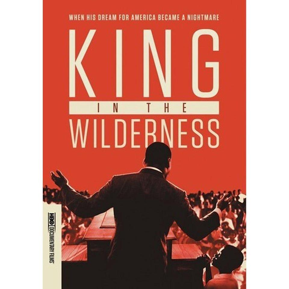 """<p><a class=""""link rapid-noclick-resp"""" href=""""https://www.hbo.com/documentaries/king-in-the-wilderness"""" rel=""""nofollow noopener"""" target=""""_blank"""" data-ylk=""""slk:STREAM NOW"""">STREAM NOW</a></p><p><em>King in the Wilderness</em> is a documentary following the last 18 months of civil rights movement leader Dr. Martin Luther King Jr.'s life before his 1968 assassination, told through historical archives and never-before-seen interviews with those closest to him. </p>"""