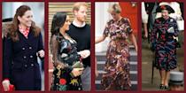 """<p class=""""body-dropcap"""">Though the royal women often opt for simple garments, from time to time, they experiment with something bold. Over the years, everyone from Queen Elizabeth to Kate Middleton has ventured out in an usual printed piece. Whether that's a sports-themed dress or a butterfly print, royals from around the world use prints to express themselves or coordinate with the day's engagements. Notably, Meghan, Duchess of Sussex, wore an <a href=""""https://www.townandcountrymag.com/society/tradition/g36533762/lemon-print-fashion-royals-meghan-markle/"""" rel=""""nofollow noopener"""" target=""""_blank"""" data-ylk=""""slk:Oscar de la Renta lemon-print dress"""" class=""""link rapid-noclick-resp"""">Oscar de la Renta lemon-print dress</a> earlier this year, a choice that First Lady Jill Biden also made shortly thereafter. </p><p>In honor of the royals, we challenge you to take more liberties with your patterned pieces. Below, find a few royally-approved unique prints, plus similar pieces for your own wardrobe. </p>"""