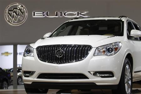 The 2013 Buick Enclave is seen at the Washington Auto Show