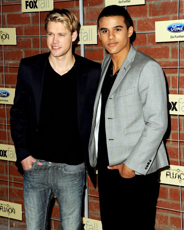 """Chord Overstreet and Jacob Artist (""""Glee"""") attend Fox's Fall 2012 Eco-Casino party at The Bookbindery on September 10, 2012 in Culver City, California."""